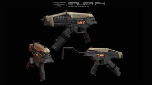 AIA Salier P4 Submachine Gun by AStepIntoOblivion