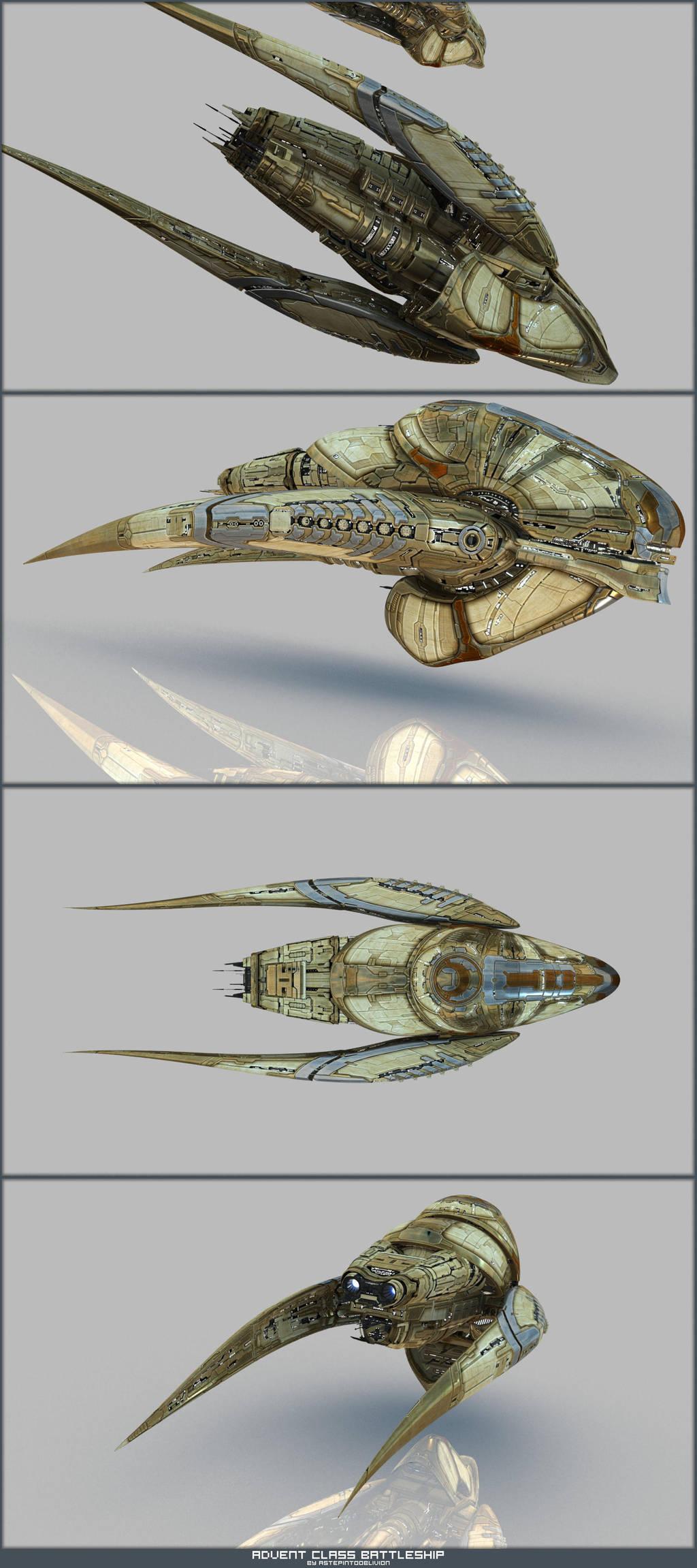 Advent Battleship Renders by AStepIntoOblivion