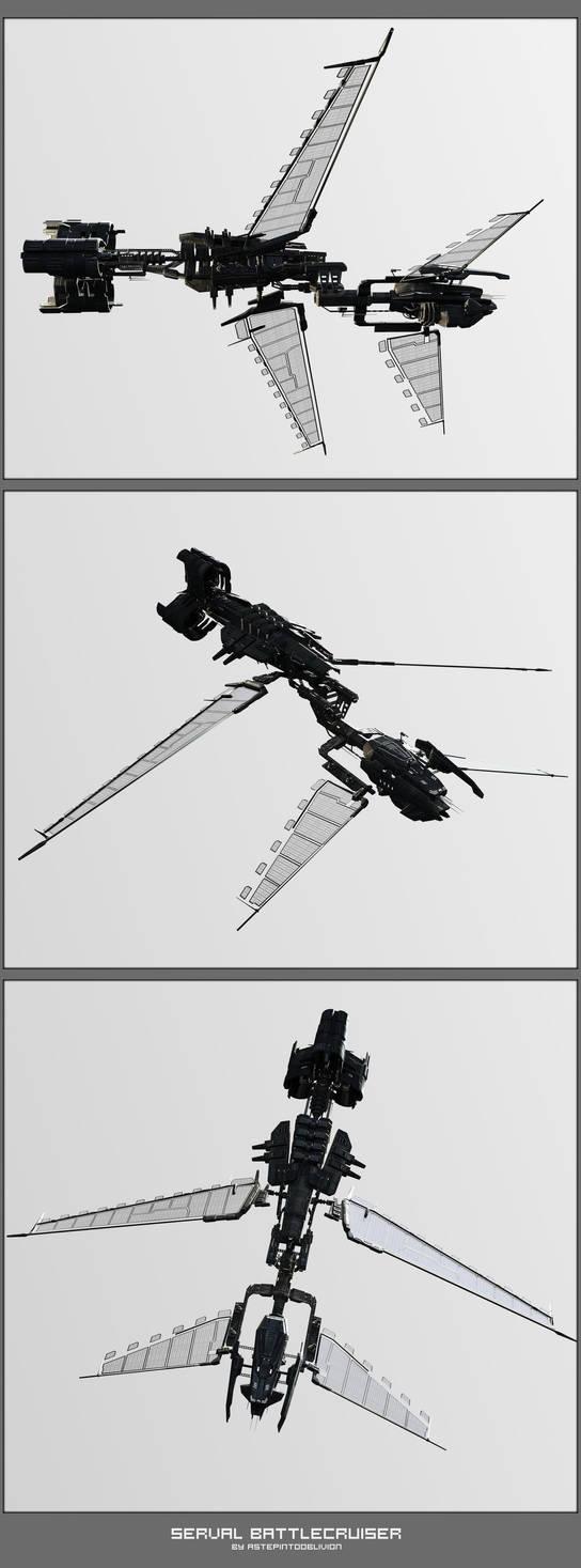 Serval Battlecruiser Renders by AStepIntoOblivion