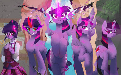 (Commission) Five Shades of Twilight by Wynnchi