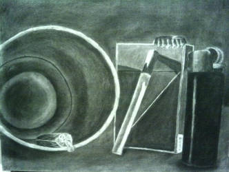 Drawing I Final - Reductive Still Life by l3pr0sy