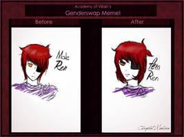 Aov Ren Genderswap meme by Mikan-bases