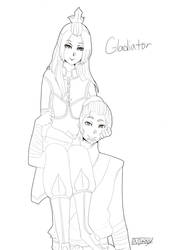 Gladiator: Sokka x Azula by Mikan-bases