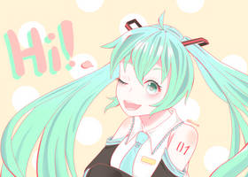 Hello Miku! by Stellazium