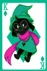 King of Diamonds_-_ Ralsei by ProjectHalfbreed