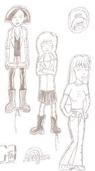 Daria character shaped foil balloons by JimmyTwoTimes2K9