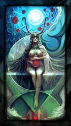 The High Priestess by Aledin
