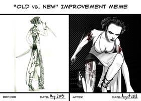 Old vs. New Improvement Meme by blackdahlia