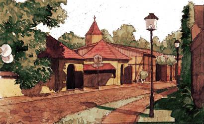 Paretz Village Street by Laurlolz