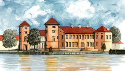 Rheinsberg Castle by Laurlolz