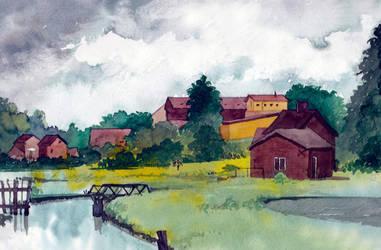 Boitzenburg Village Landscape by Laurlolz