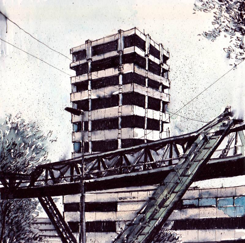 Wuppertal Suspension Railway by Laurlolz