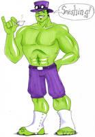 Hulk smashing by zaionczyk