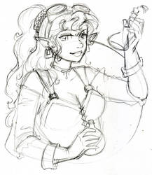 Ophelia the alchemist by zaionczyk