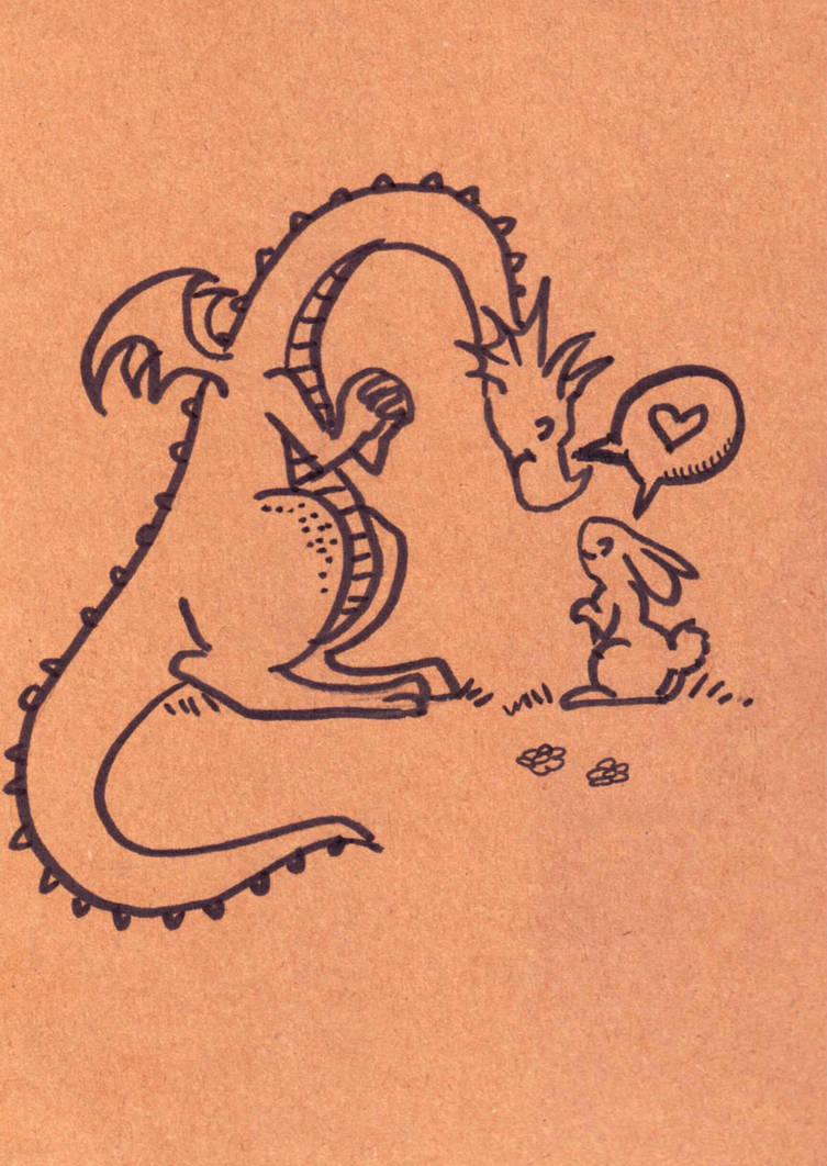 Dragon and Bunny by zaionczyk