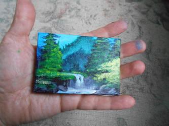 Pocket Painting - Waterfall by zaionczyk