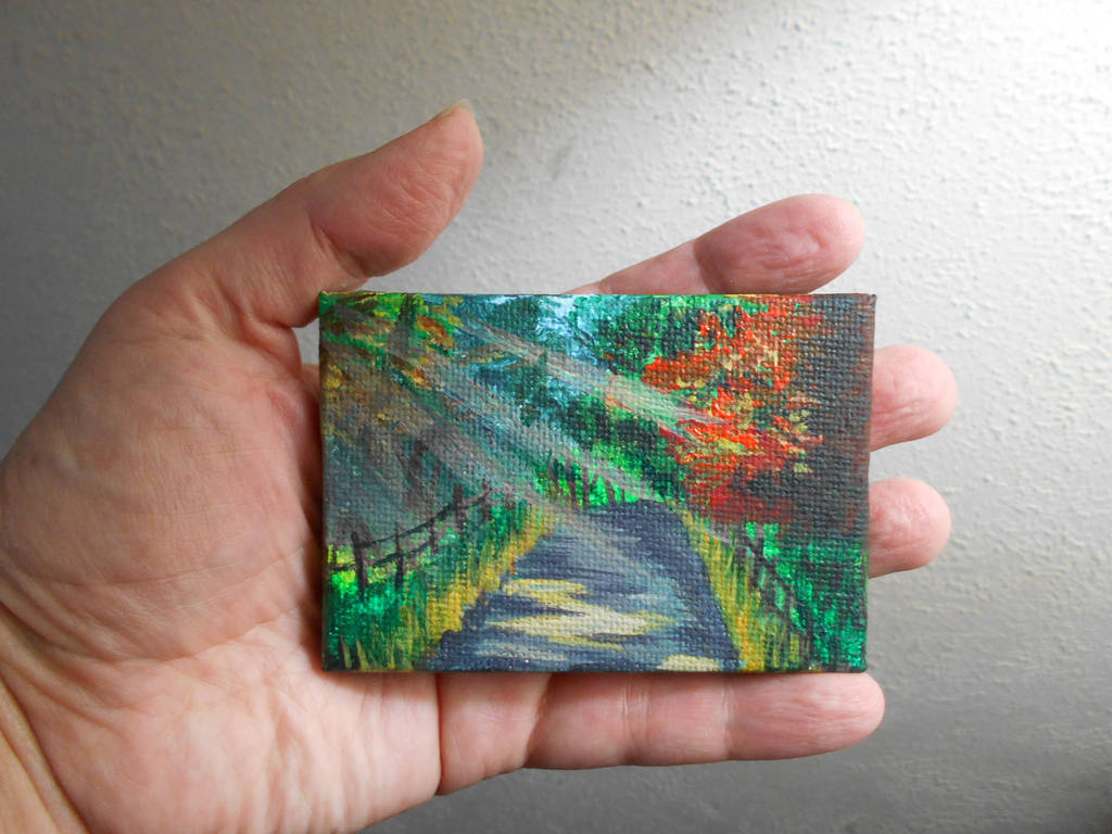 Pocket Painting - Sunny road by zaionczyk