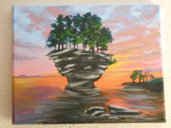 cupcake island at twilight by zaionczyk