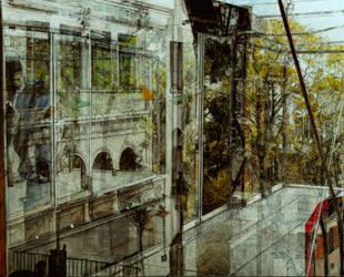 Vision d Ivresse, Funiculaire de Montmartre, Paris by BoreIvanoff