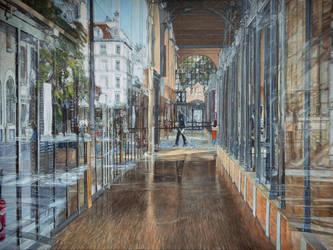 Carreau du Temple, Paris 3 me, huile sur toile,  by BoreIvanoff