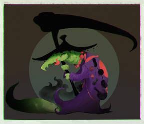 Dark Lizard by Gobln