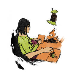 sketchbook colored by Gobln