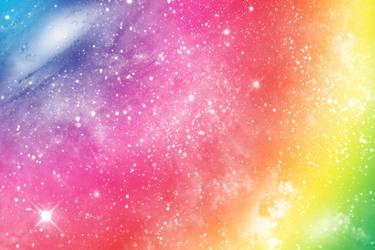 Rainbow Space Wallpaper by TsukineSara