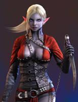 Dark Elf Assassin - final render - beauty shot by Bushidou2012