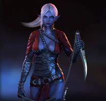 Dark Elf Assassin by Bushidou2012