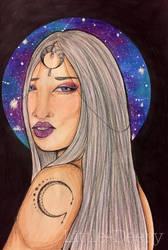 Goddess of the Moon by Little-Deery