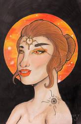 Goddess of the Sun  by Little-Deery