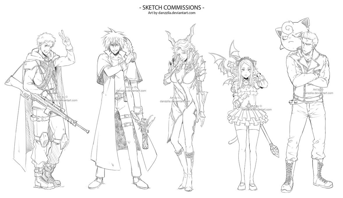 sketch commissions by danzzila