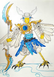 Fan art - Eris - Robot. Lego Eagle by jonkania