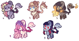 Plant Pony Adopts (CLOSED) by Points-for-Fritty