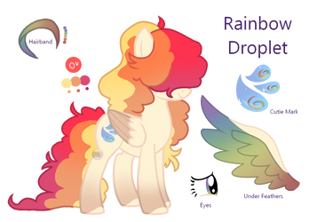 Rainbow Droplet by Points-for-Fritty