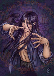 Tendrils of darkness and magic by whiteshaix