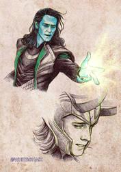 Loki sketches 02 by whiteshaix