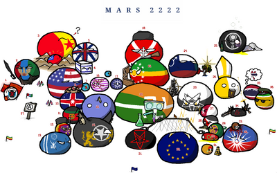 Mars 2222 in countryballs (Solar System 2222) by Vanga-Vangog