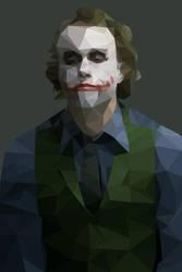 Heath Ledger's Joker - Low Poly by geo-almighty