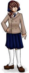 Sofi in school uniform by roushi