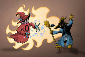 Orko vs Vivi by Blamrob