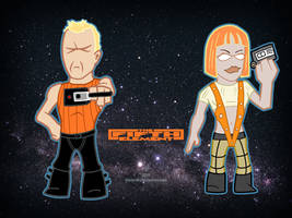 The Fifth Element Korben Dallas and Leeloo by Blamrob