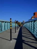 Footbridge on a clear day by Lukjad