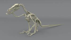 Velociraptor mongoliensis chillaxin by MithosKuu