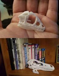 Scipionyx skull 3d print by MithosKuu