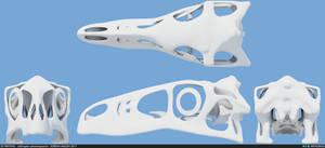 Utahraptor ostrommaysorum skull 001 by MithosKuu