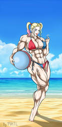 Harley at the beach by MATL