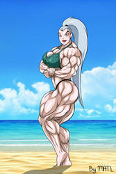 Mala at the beach by MATL