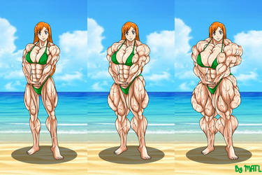 Commission - Orihime at the beach 2 by MATL
