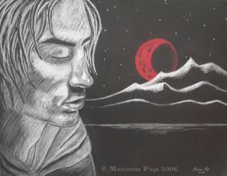 Crimson Moonrise by seclusivebeauty